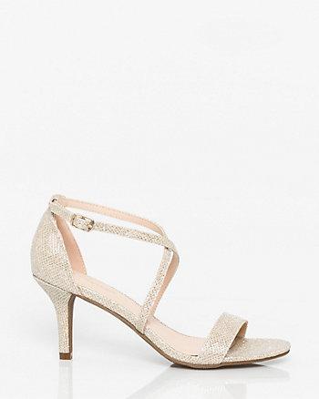 Glitter Mesh Criss-Cross Sandal