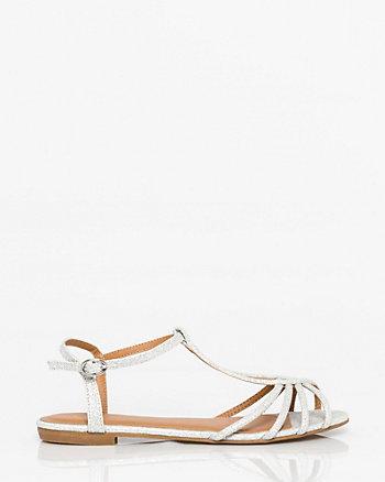 Glitter T-Strap Sandal