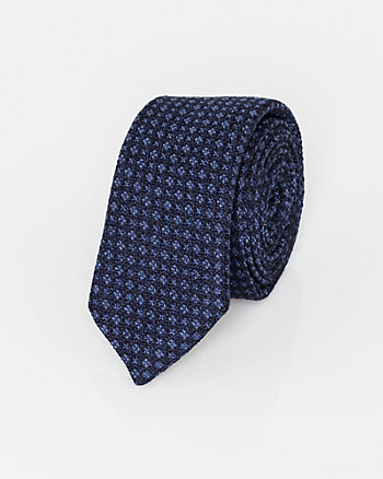 Italian-Made Silk Diamond Print Tie
