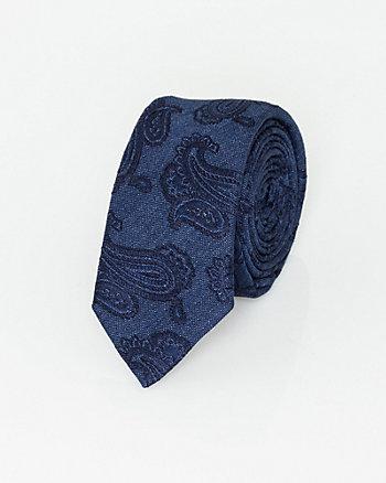 Italian-Made Paisley Print Silk Tie