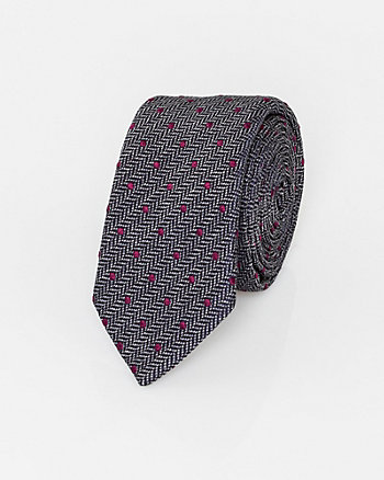 Italian-Made Novelty Print Silk Tie