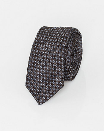 Italian-Made Diamond Print Silk Tie