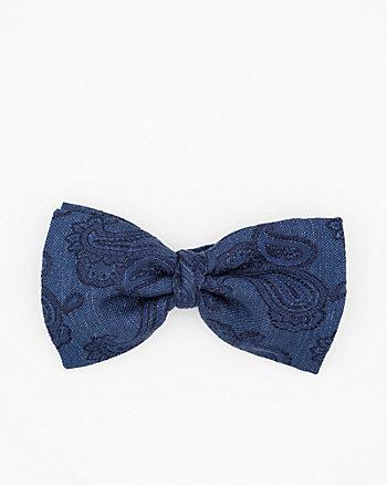 Italian-Made Paisley Print Silk Bow Tie