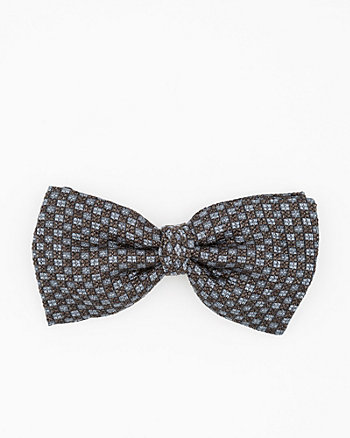 Italian-Made Diamond Print Silk Bow Tie