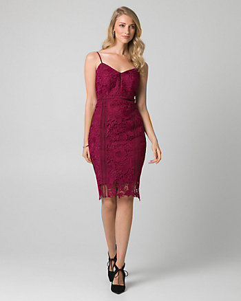 Guipure Lace Sweetheart Cocktail Dress