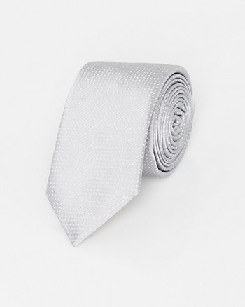 Italian-Made Micro Dot Print Silk Tie