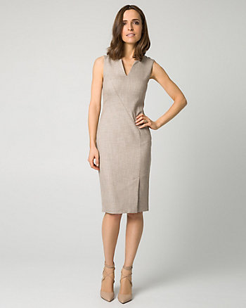 Stretch Viscose Blend Shift Dress