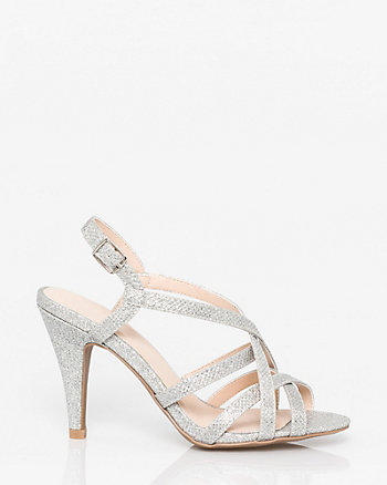 Glitter Mesh Strappy Sandal
