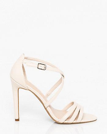 Leather-Like Criss-Cross Sandal