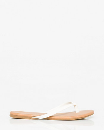 Leather-Like Flip Flop
