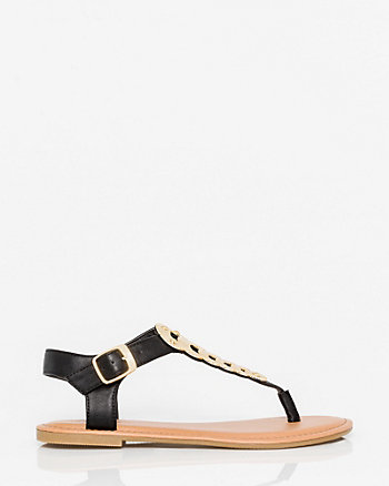 Leather-Like Thong Sandal