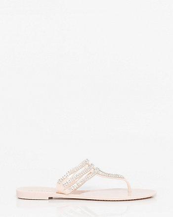 Jewel Embellished Jelly Flip Flop