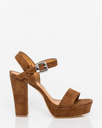 Suede-Like Platform Sandal