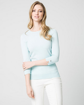 Viscose Blend Crew Neck Sweater