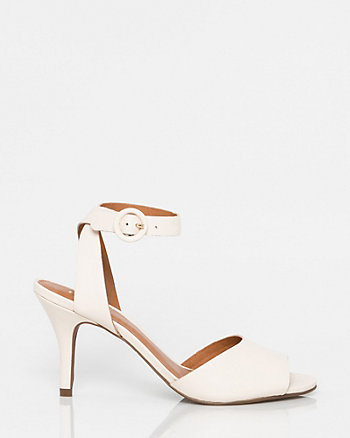 Brazilian-Made Leather Peep Toe Sandal