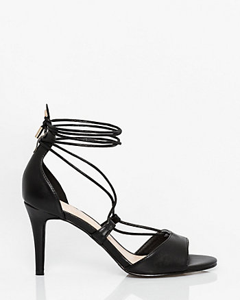 Leather-Like Ghillie Tie Sandal