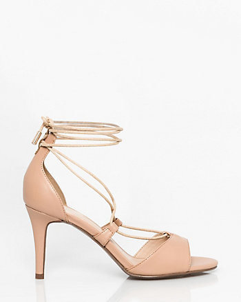 Faux Leather Ghillie Tie Sandal