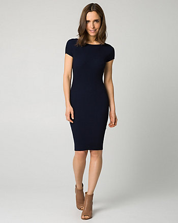 Knit Scoop Back Midi Dress