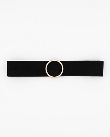 Elastic Jewel Buckle Belt