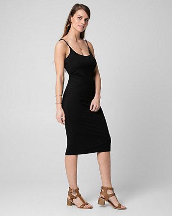 Jersey Scoop Neck Midi Dress