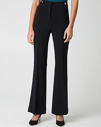 Double Weave High Waist Flare Leg Pant
