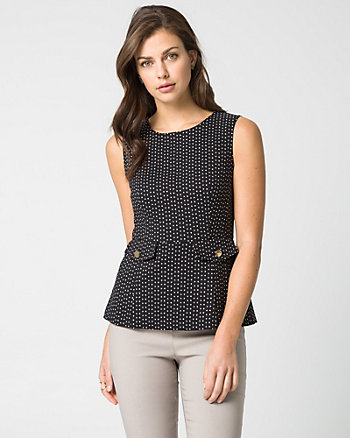 Diamond Tech Stretch Peplum Blouse