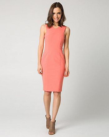 Stretch Nylon Criss-Cross Shift Dress