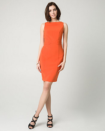 Double Weave Belted Shift Dress