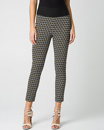 Geo Print Tech Slim Leg Crop Pant