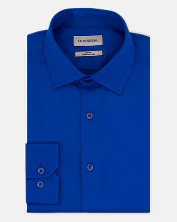Tonal Twill Slim Fit Dress Shirt
