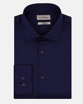 Tonal Cotton Twill Regular Fit Shirt