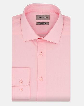 Chemise de coupe régulière en sergé