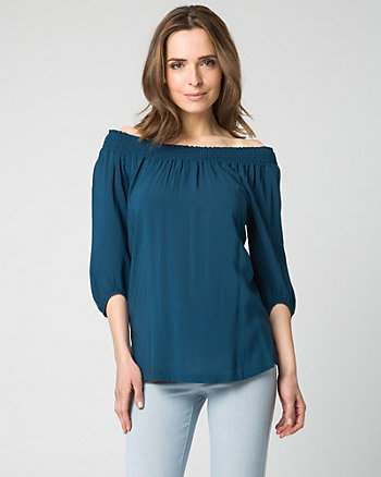 Challis Off-the-Shoulder Top