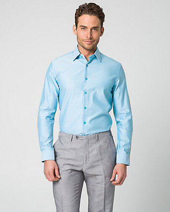 Tonal Twill Tailored Fit Dress Shirt