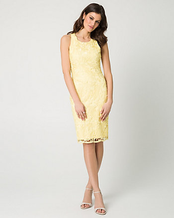 Guipure Lace Shift Dress