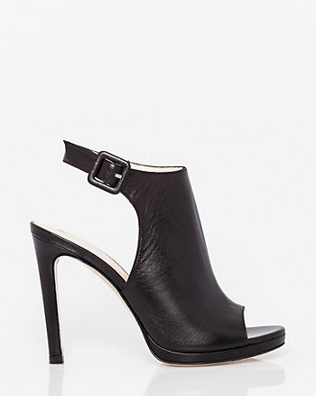 Italian-Made Leather Slingback Shootie