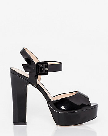 Brazilian-Made Patent Faux Leather Sandal