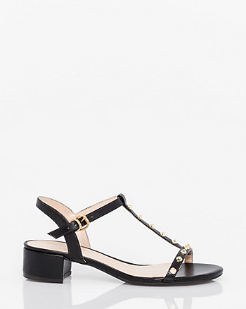 Brazilian-Made Leather-Like T-Strap Sandal