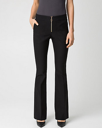 Stretch Woven Flare Leg Pant