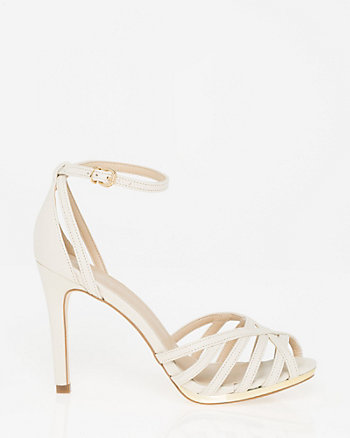 Brazilian-Made Metallic Faux Leather Sandal