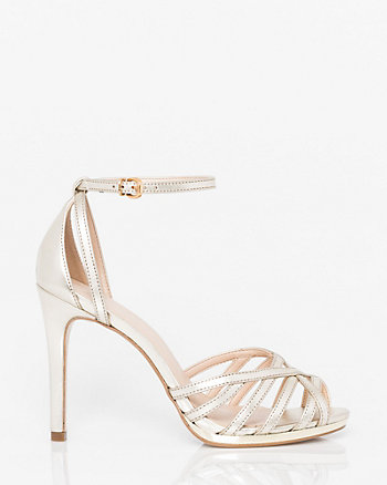 Brazilian-Made Metallic Leather-Like Sandal