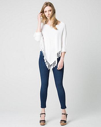 Cotton Blend Poncho Sweater