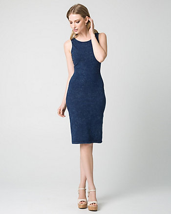 Cotton Jersey Midi Dress