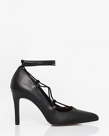 Leather-Like Ghillie Tie Pump
