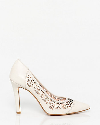 Italian-Made Leather Cutout Pump