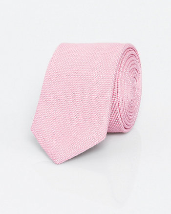 Viscose Blend Two-Tone Skinny Tie