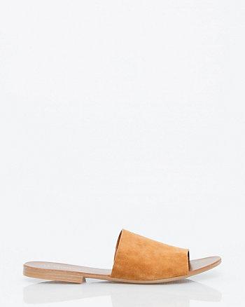Italian Designed Suede Slide Sandal