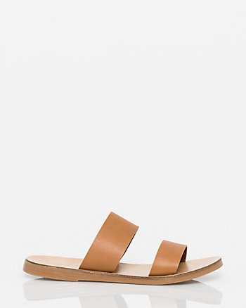 Italian Designed Leather Slide Sandal