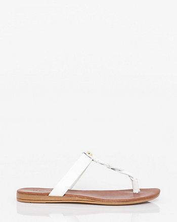 Italian Designed Leather Thong Sandal