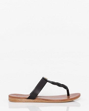 Italian Designed Leather Thong Sandal